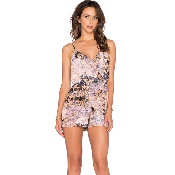 BCBGeneration Pants - BCBGeneration printed crossover romper small NWT